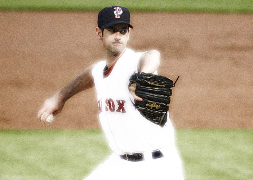 Is that a zombie? A Ghost? No it's actually Mark Prior pitching well.