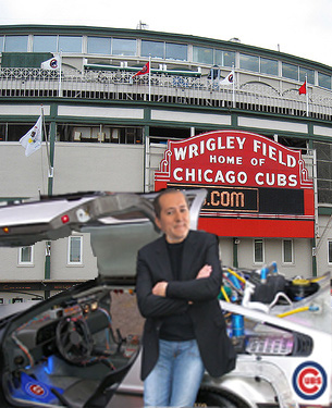 Tom Ricketts seen resting up against his newly acquired DeLorean.